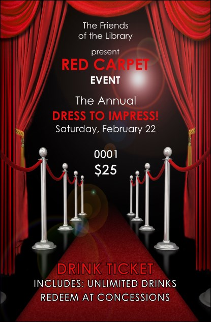 Red Carpet Drink Ticket Product Front
