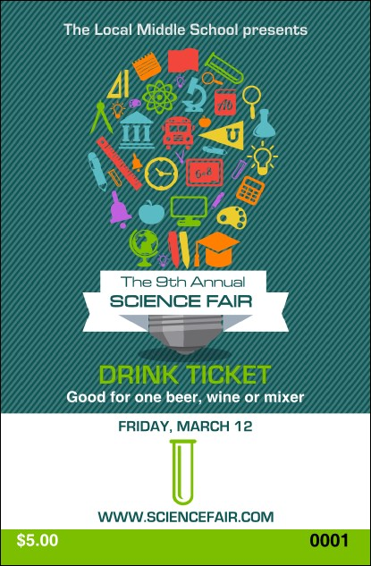 Science Fair Drink Ticket