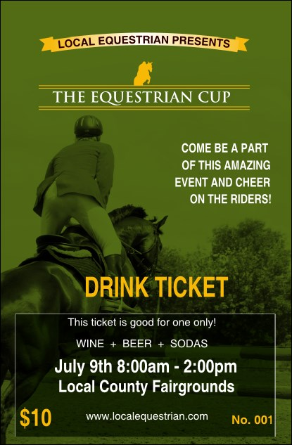 Equestrian Drink Ticket