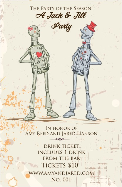 Robot Jack and Jill Drink Ticket