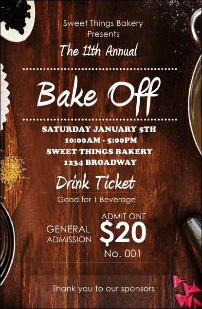 Baking Drink Ticket