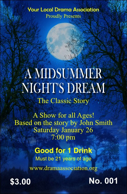Midsummer Night's Dream Drink Ticket