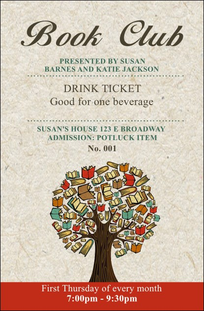 Books Drink Ticket Product Front