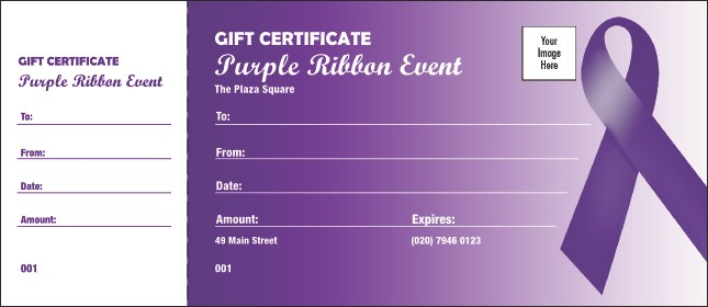 Purple Ribbon Gift Card