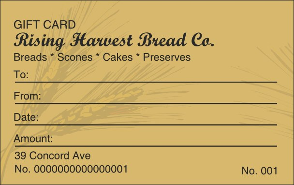 Bakery Gift Card