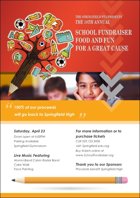 Fundraiser Education Postcard