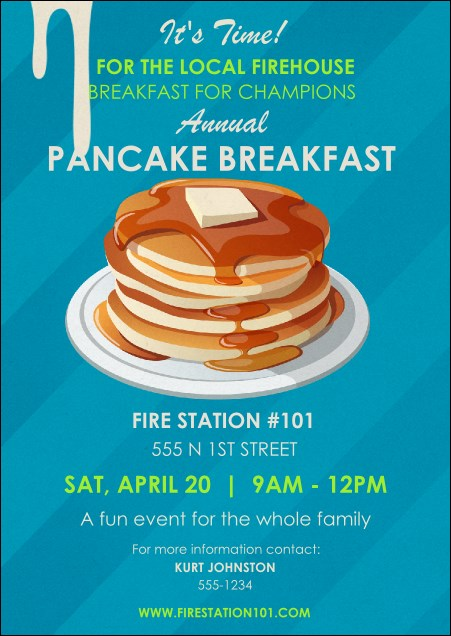 Pancake Breakfast Postcard Product Front