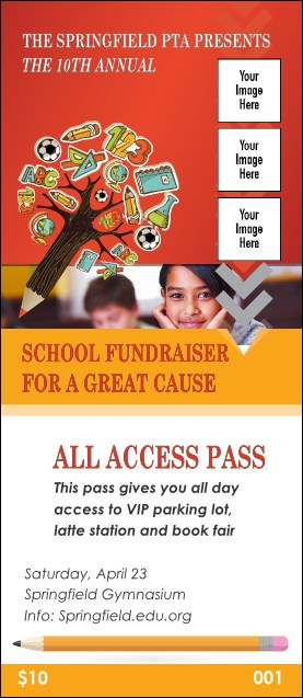 Fundraiser Education VIP Pass Product Front