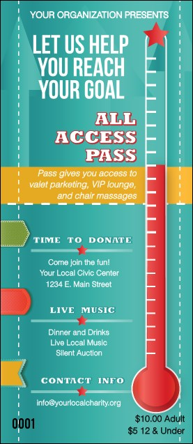Fundraising Thermometer VIP Pass