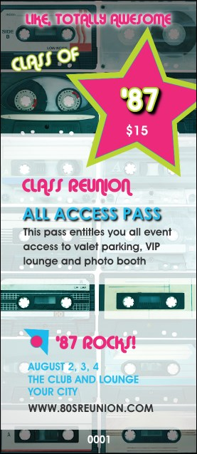 Totally 80s VIP Pass