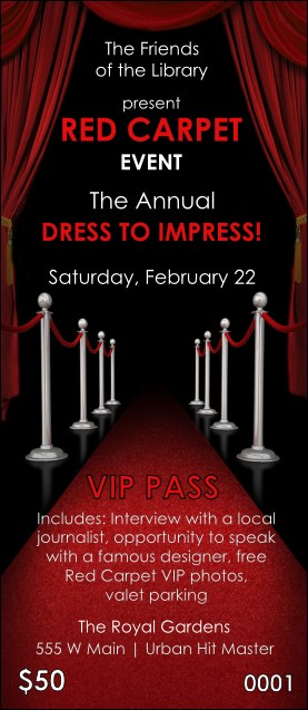 Red Carpet VIP Pass