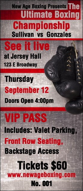 Boxing Gloves VIP Pass