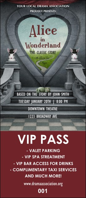 Alice in Wonderland VIP Pass