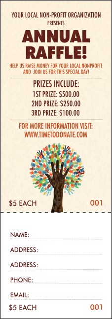 Fundraiser Tree Raffle Ticket