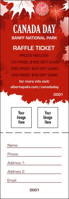 Canada Day Raffle Ticket