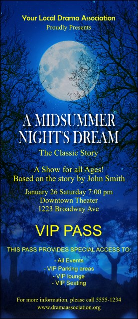 Midsummer Night's Dream VIP Pass
