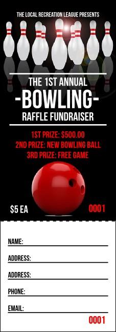 bowling classic raffle ticket
