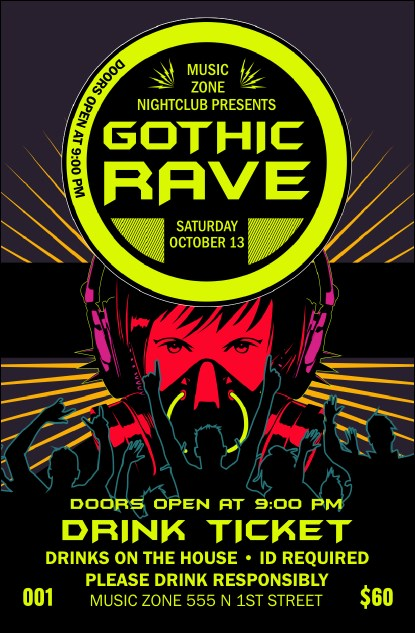 Goth Rave Drink Ticket