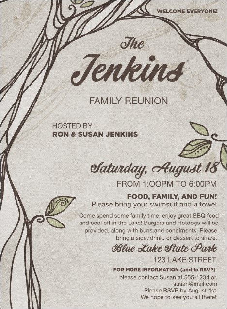 Reunion Invitation