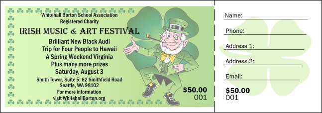 St. Patrick's Day Raffle Ticket