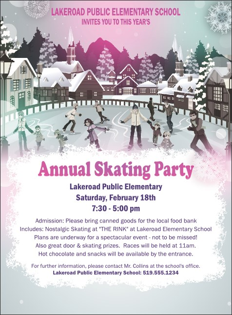 Skating Party Invitation