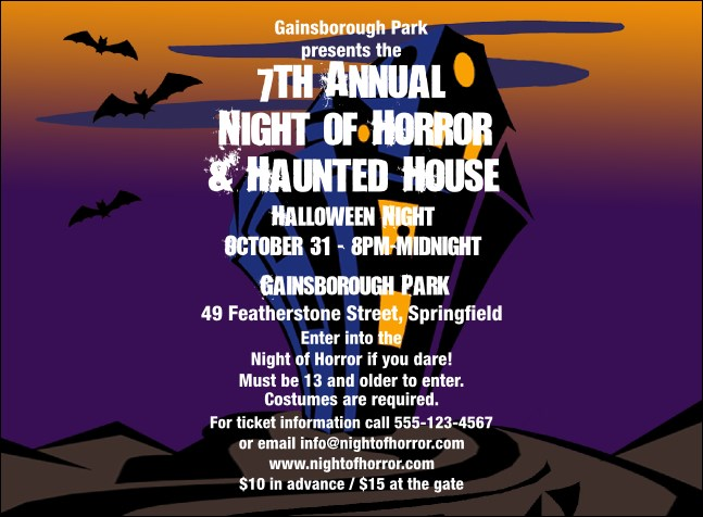 Haunted House Invitation 002 Product Front