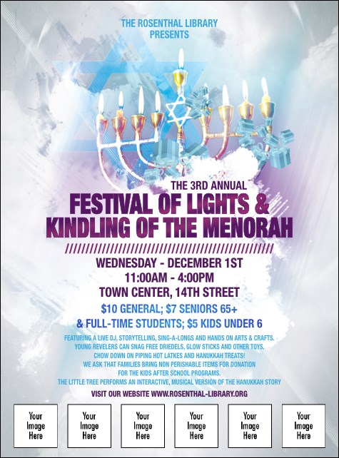 Hanukkah Abstract Flyer