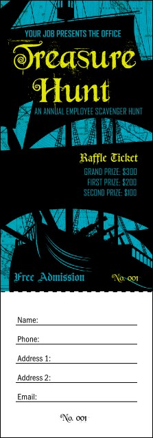 Pirate Ship Raffle Ticket