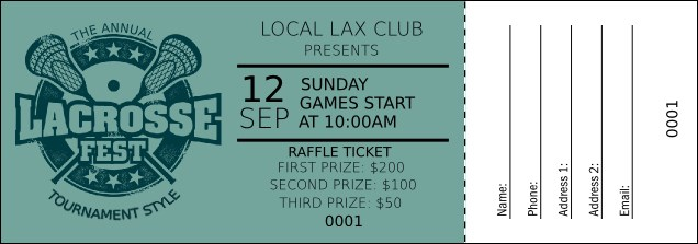 Lacrosse Raffle Ticket