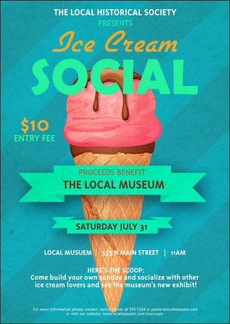 Ice Cream Social Postcard