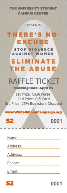 White Ribbon Raffle Ticket