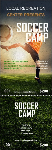 Soccer Camp Event Ticket