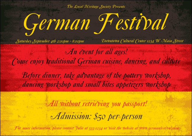 German Flag Postcard