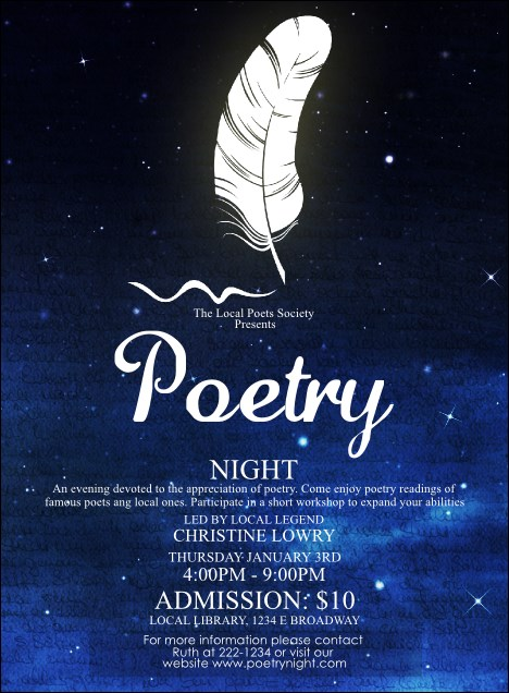 Poetry Quill Invitation