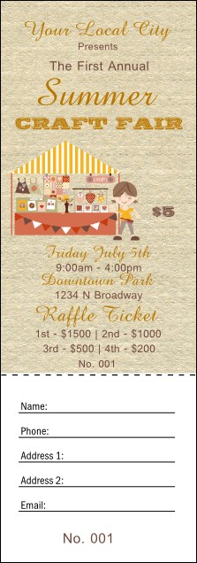 Craft Fair Raffle Ticket