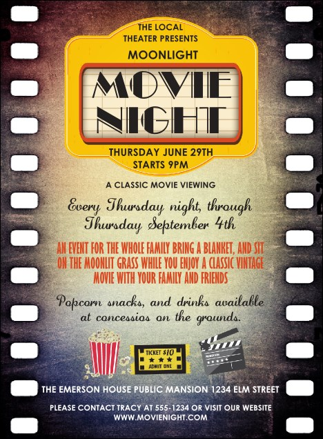 Movie Strip Invitation