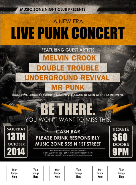 Punk Rock Logo Flyer