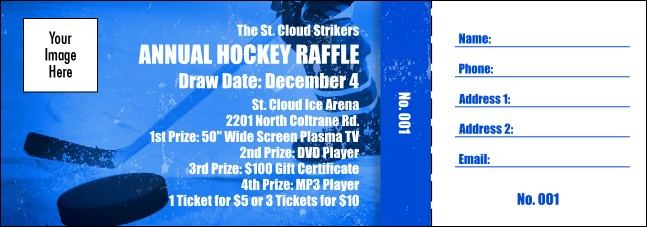 hockey fundraiser raffle ticket