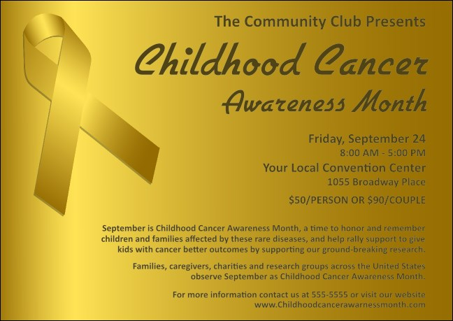 Childhood Cancer Awareness Month Postcard