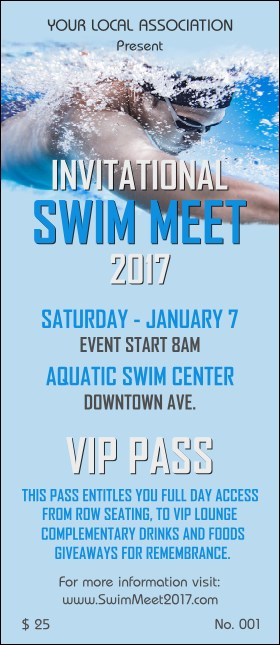 Swim Meet VIP Pass
