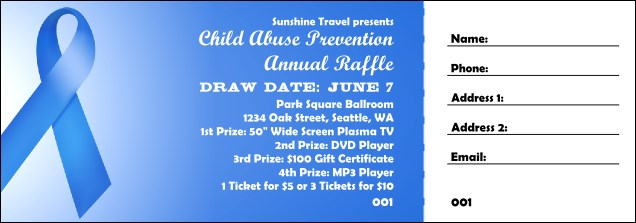 Blue Ribbon Raffle Ticket