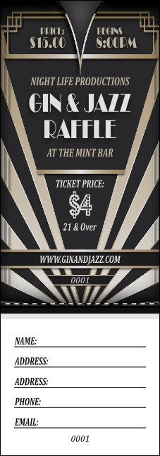 Roaring 20s Raffle Ticket