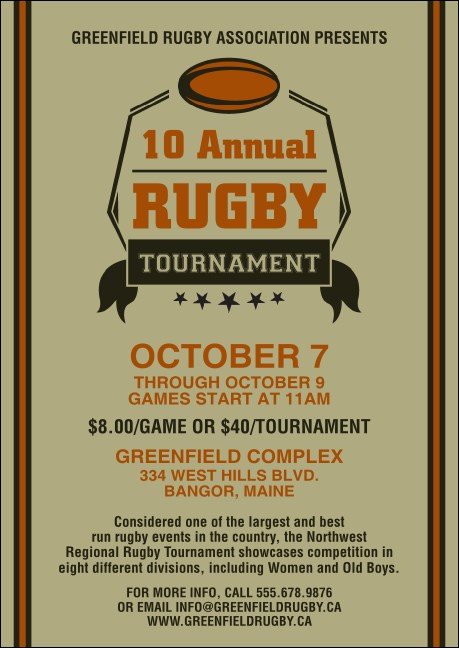 Rugby Tournament Postcard