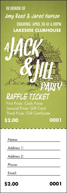 Jack and jill raffle ticket for Jack and jill ticket templates