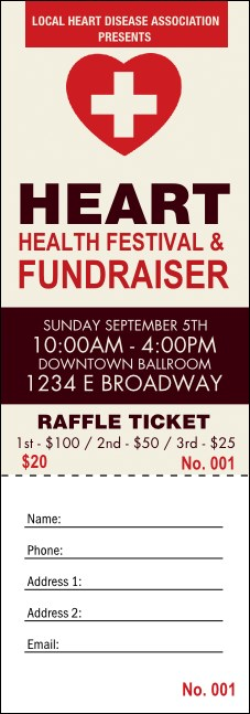 Heart Health Raffle Ticket
